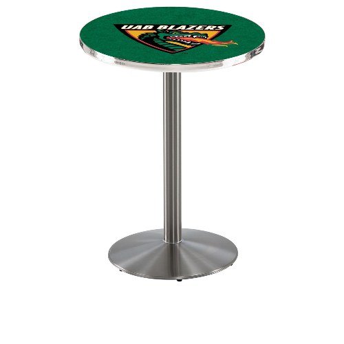 NCAA Pub Table by Holland Bar Stool, Stainless - UAB Blazers, 42'' - L214