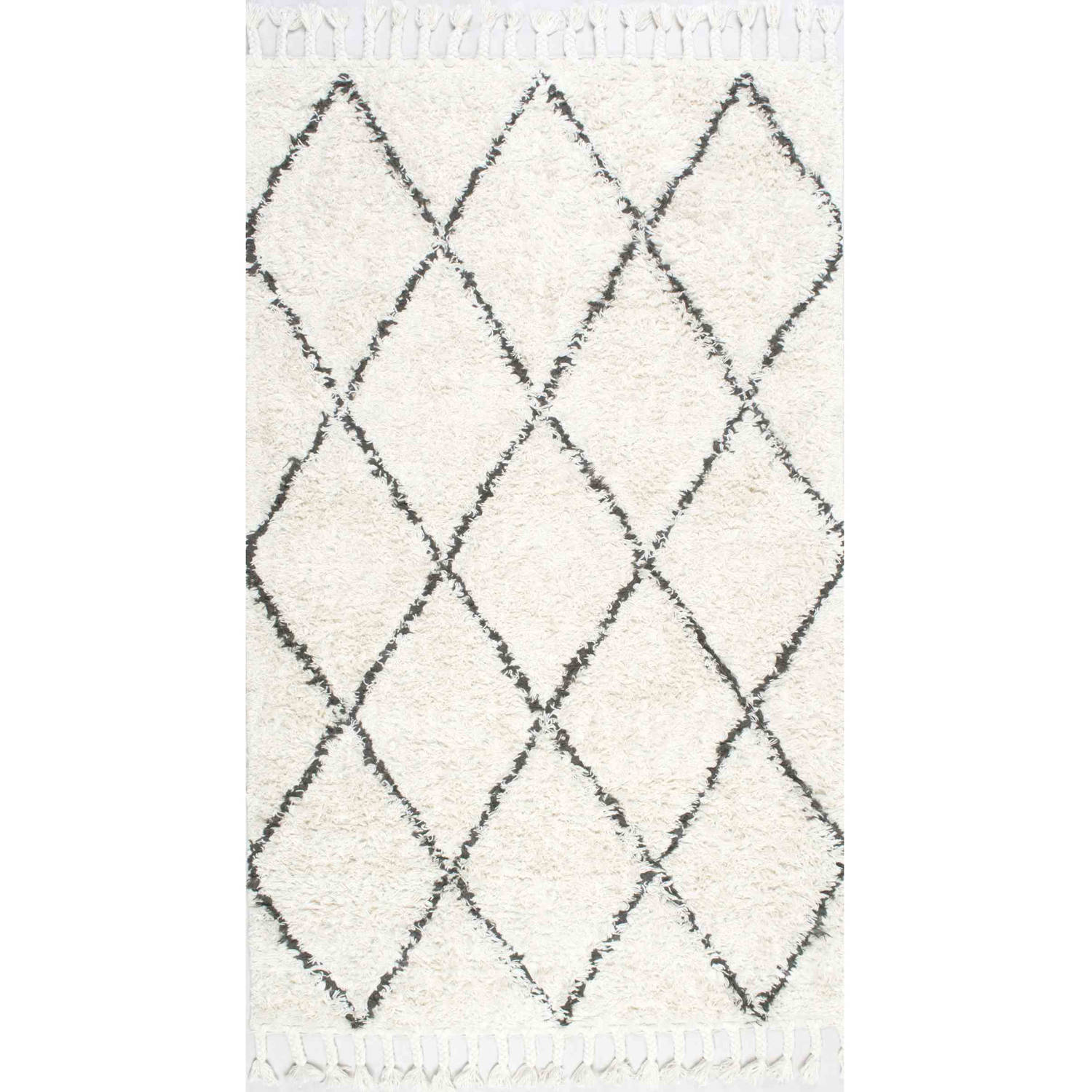 nuLOOM Hand-Knotted Fez Shag Area Rug or Runner