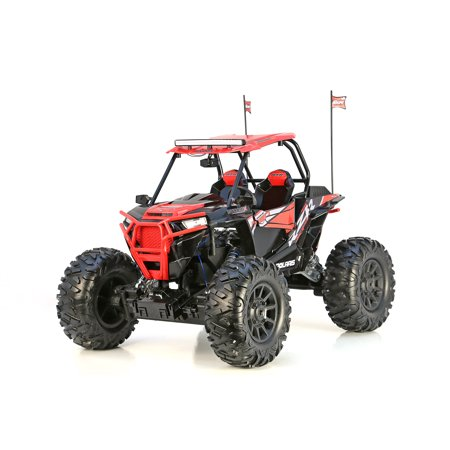 New bright rc 1:5 scale radio control polaris rzr atv - red