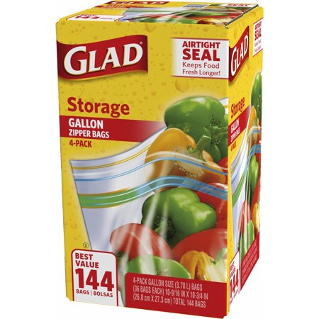 Product Of Glad Storage 1 Gal Plastic Zipper Bags 4 Pk36 Ct