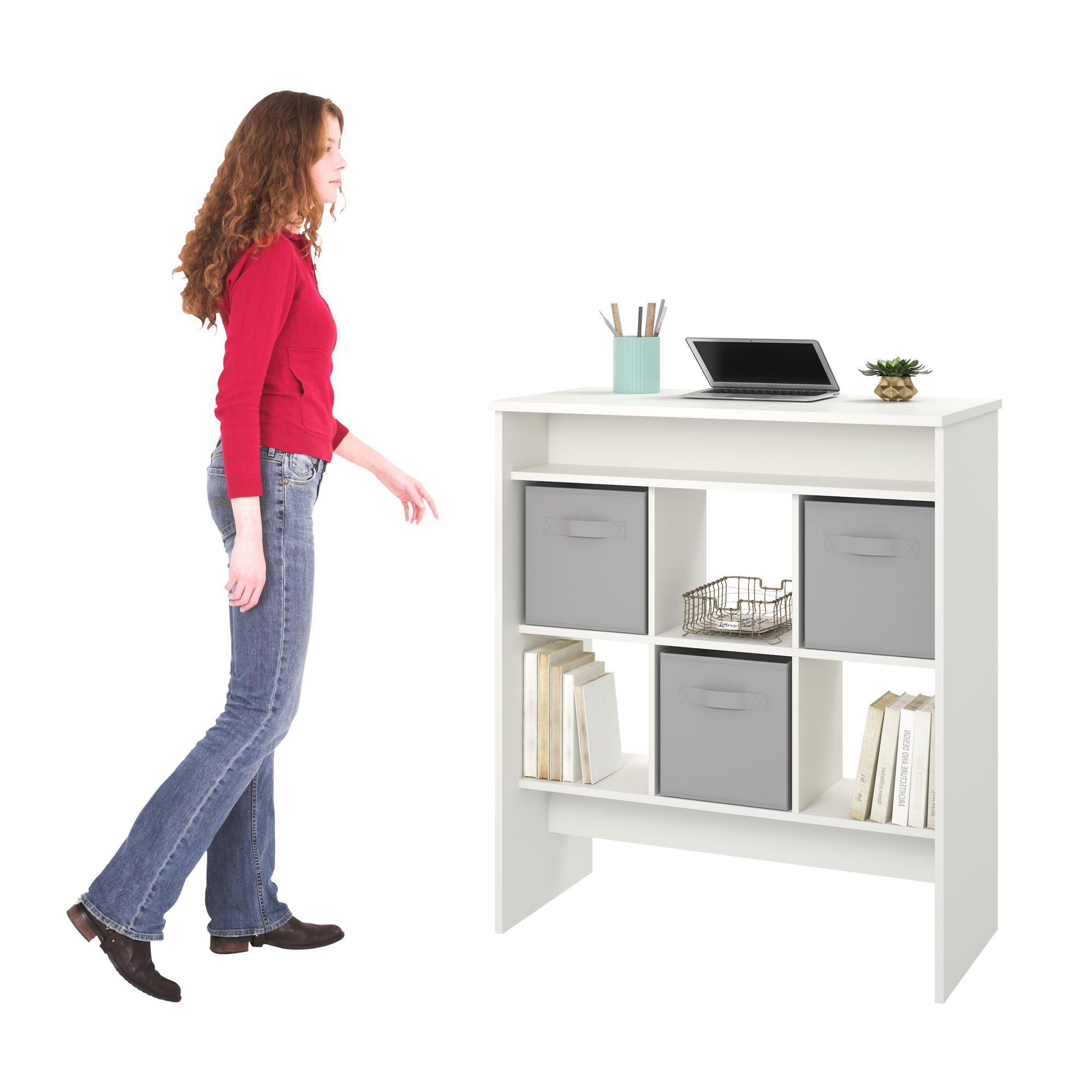 attachment drawer lovely of standing unit white adjustable desk new ikea drawers alex vanity height with