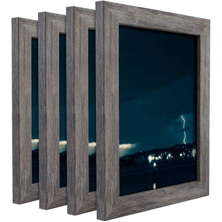 craig frames bauhaus modern gray picture frame set of 4. Black Bedroom Furniture Sets. Home Design Ideas