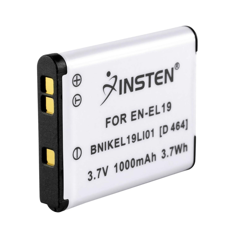 Insten Battery Pack EN-EL19 ENEL19 for Nikon Coolpix S2500 S3100 S3300 S4100 S4300 S5200 S6400 S6500 S6600 S6800 S100