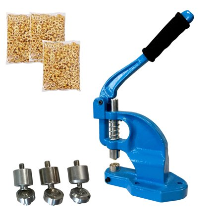 Tenive Manual Heavy Duty Hand Press Grommet Machine Hand Eyelets Hole Punch  Tool with 3 Die Sets - #0 #2 #4
