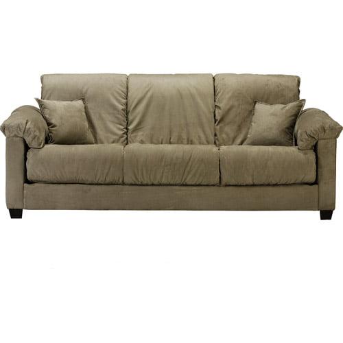 Montero Convert-A-Couch Futon Sofa Bed, Mocha