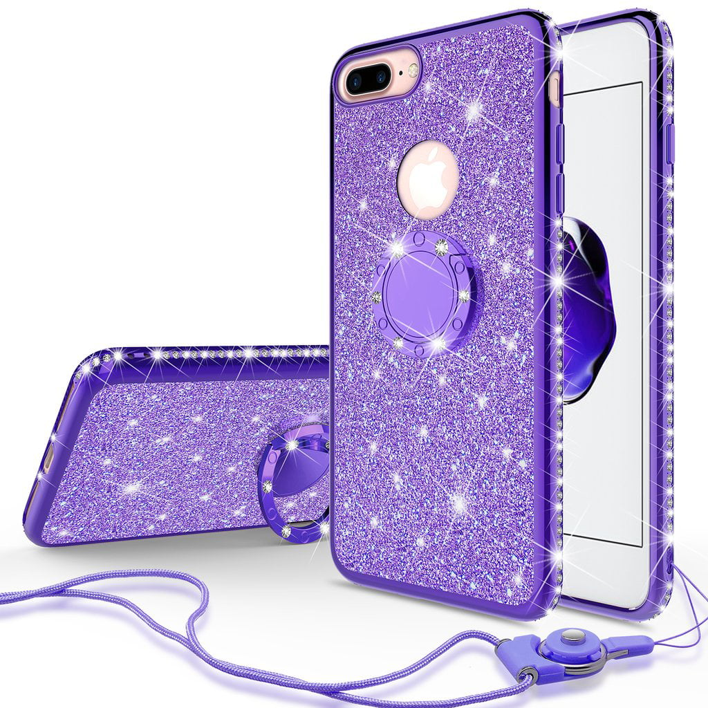 blue glitter iphone 7 case
