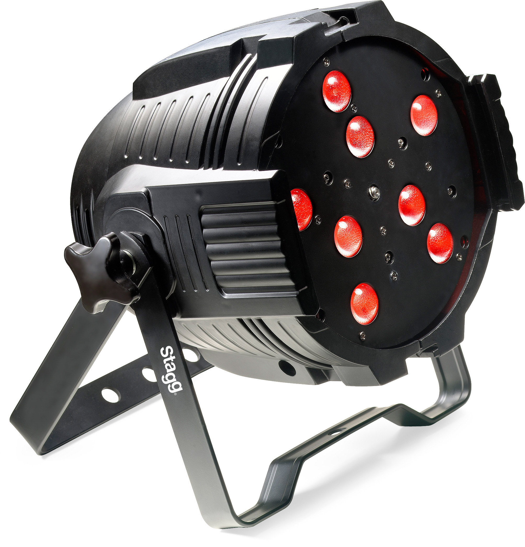 Stagg SLI KINGPAR4Z-1 LED Metal Housed Spotlight with 8x8x RGBW LEDs & Motorized Zoom with Passive Cooling... by Stagg Music