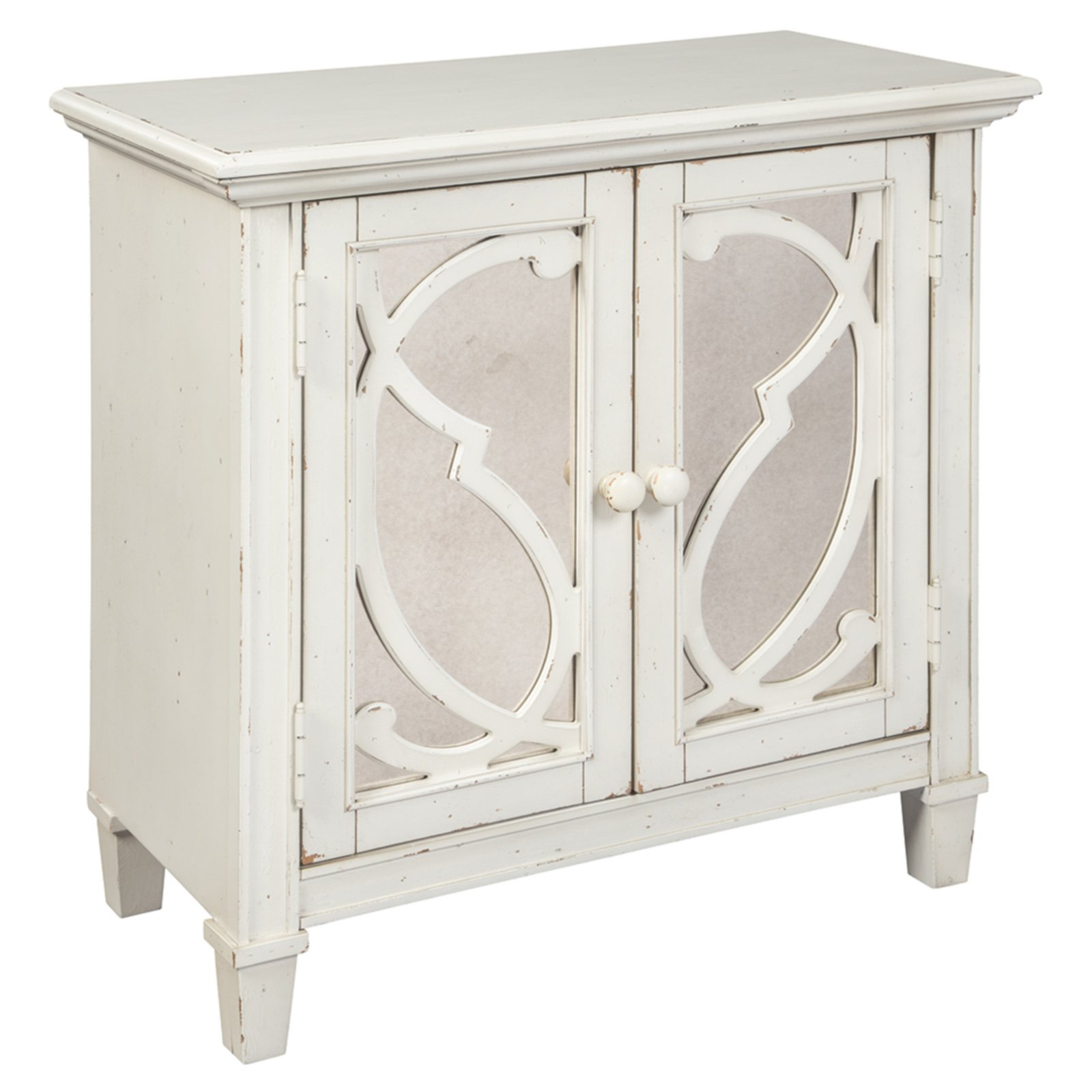 Signature Design by Ashley Mirimyn 30 in. Mirrored Door Accent Cabinet