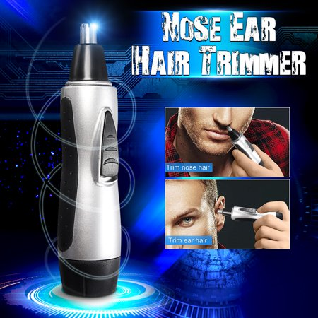 - 2x 2018 New Unisex Electric Nose Ear Face Hair Removal Trimmer Shaver Clipper Cleaner Remover Tools Battery Operated