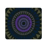 OTM Prints Black Mouse Pad, Sun Print Purple Ivy
