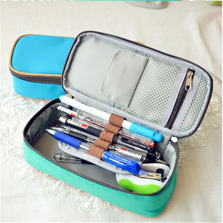 Canvas Pencil Case Multifunction Large Capacity Stationary Bag Makeup Cosmetic Pen Box with Zipper Travel Storage Organizer Holder Today's Deals ()