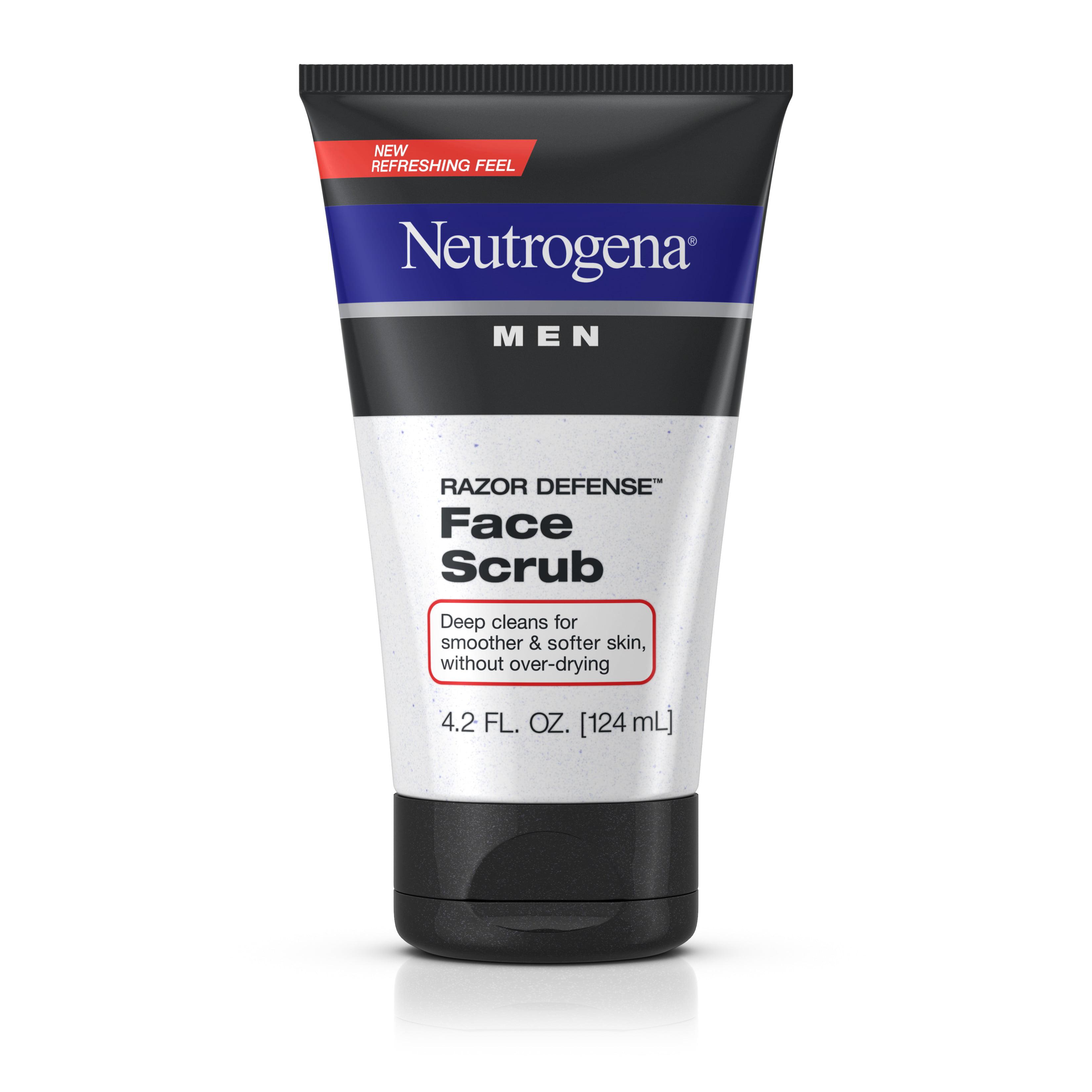 Neutrogena Men Razor Defense Exfoliating Shave Face Scrub, 4.2 fl. oz