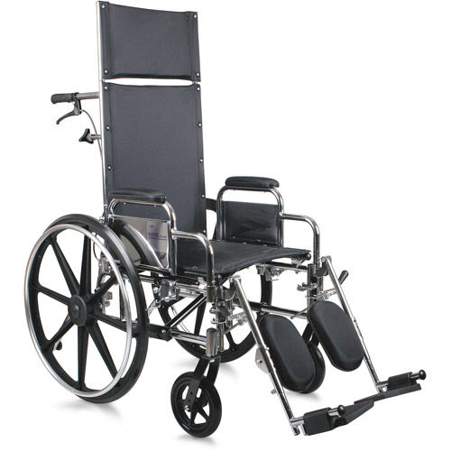 Medline Excel Reclining Wheelchair, 1ct