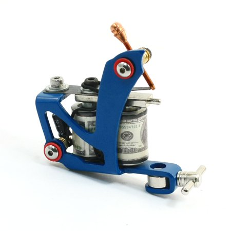 Handmade 10wrap Coil Cast Iron Tattoo Machine  Blue for Liner Shader (Tattoo Machines Made In America)