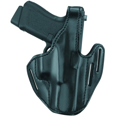Gould and Goodrich B733-G19 Leather 3-Slot Pancake Holster, Black