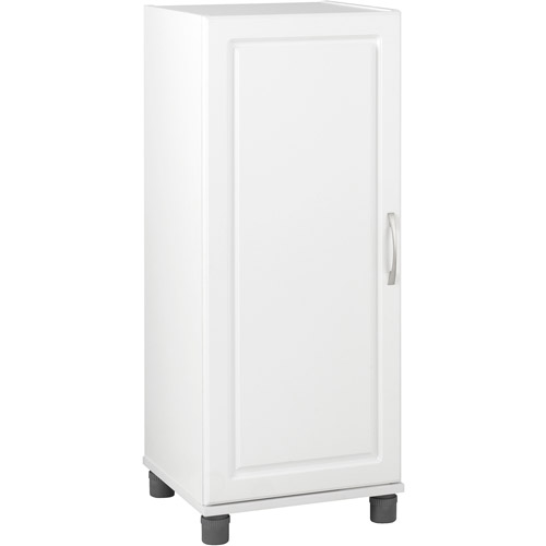SystemBuild Single Door Storage Cabinet, Stackable, White  7369401PCOM