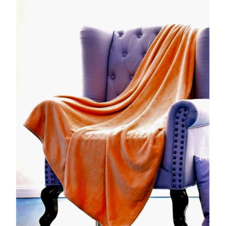 ULTRA SMALL SOFT THROW BRICK , Microlight Plush Solid Fleece Travel Small Throw Blanket 50