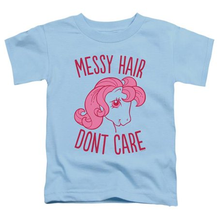 Trevco Sportswear HBRO205-TT-1 My Little Pony Retro & Messy Hair - Short Sleeve Toddler Tee, Light Blue - Small 2T - image 1 of 1