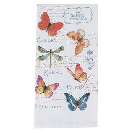 Kayo Designs - Kay Dee Designs R3503 My Journal Butterfly Garden Krinkle Flour Sack Towel