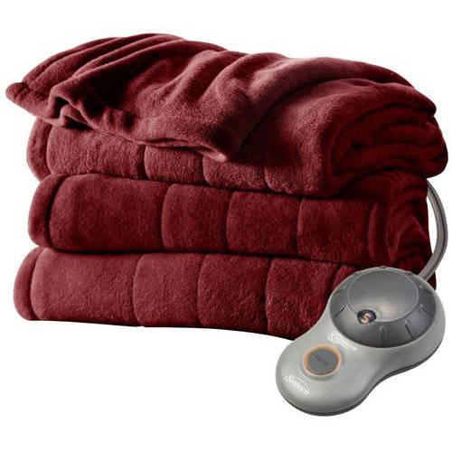 Sunbeam Electric Heated Plush Blanket