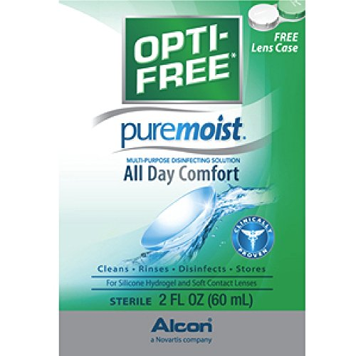 2 Pack - Opti-free Pure Moist Solution, 2 Oz Each