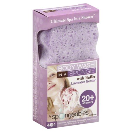 Spongeables Lavender Nectar Body Wash in a Sponge with Buffer, 3.5 (3.5 Ounce Body Care)