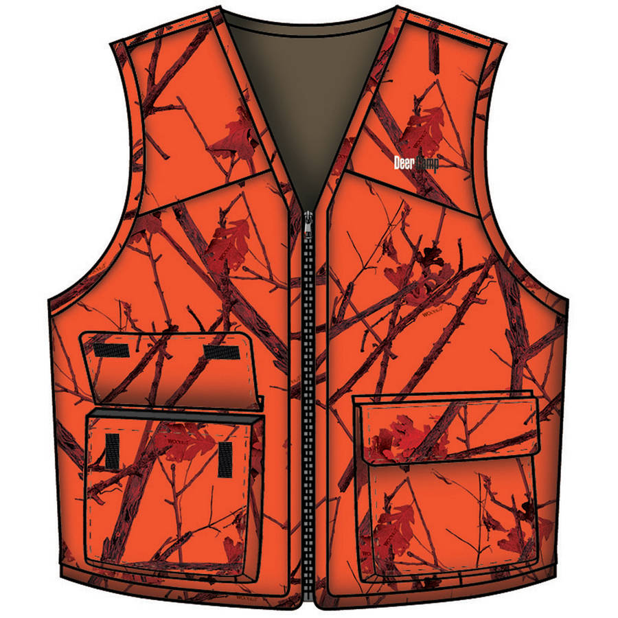 Gamehide Deer Camp Vest, Woodlot Blaze
