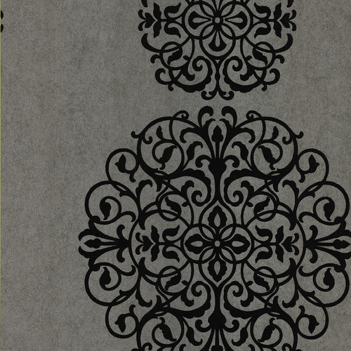 Brewster Home Fashions Kitchen and Bath Resource II Salon Medallion 33' x 20.5'' Damask 3D Embossed Wallpaper