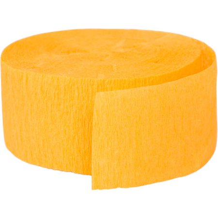 (4 Pack) Yellow Orange Crepe Paper Streamers, 81ft Decorate Crepe Streamers