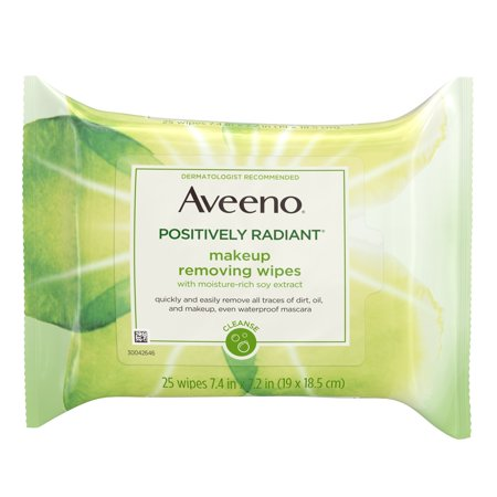 Aveeno Positively Radiant Oil-Free Makeup Removing Wipes, 25 ct. - Eye Makeup Removal Lotion