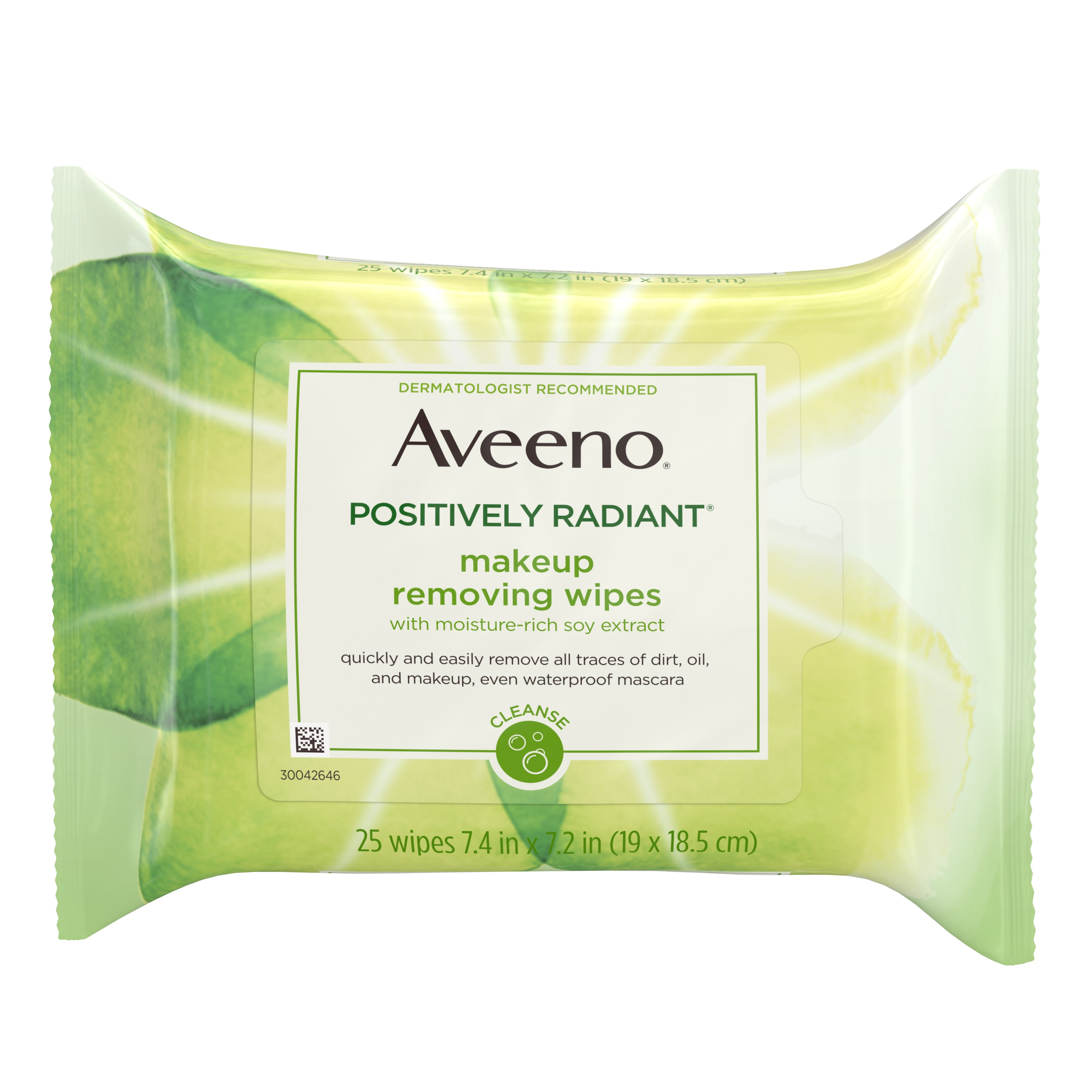Aveeno Positively Radiant Oil-Free Makeup Removing Wipes, 25 ct.