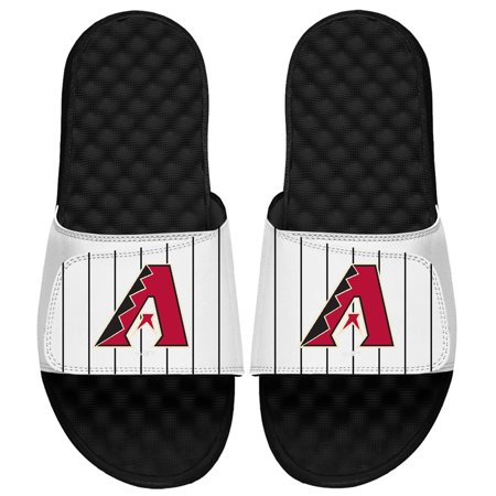Arizona Slides (Arizona Diamondbacks ISlide MLB Pinstripes Slide Sandals - White )
