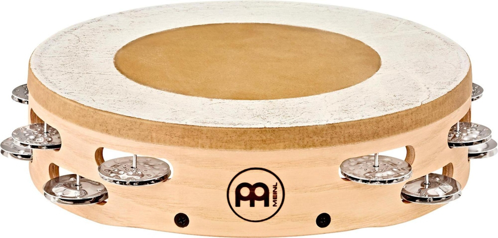 Meinl Headed Artisan Edition Tambourine with Steel Jingles 2 Row 10 in. by Meinl