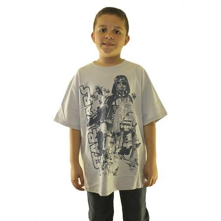 Star Wars The Empire Strikes Kid's Grey T-shirt NEW Sizes L-XL