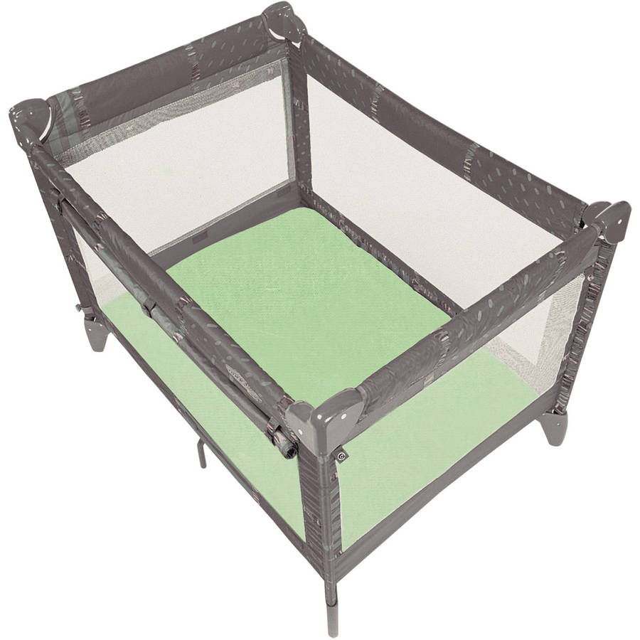 Ben and Noa Fitted Play Pen Jersey Sheet, Sage