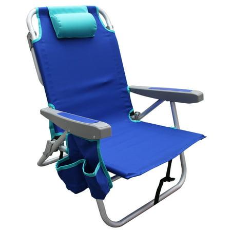 Mainstays Reclining Blue Beach & Event Backpack Chair