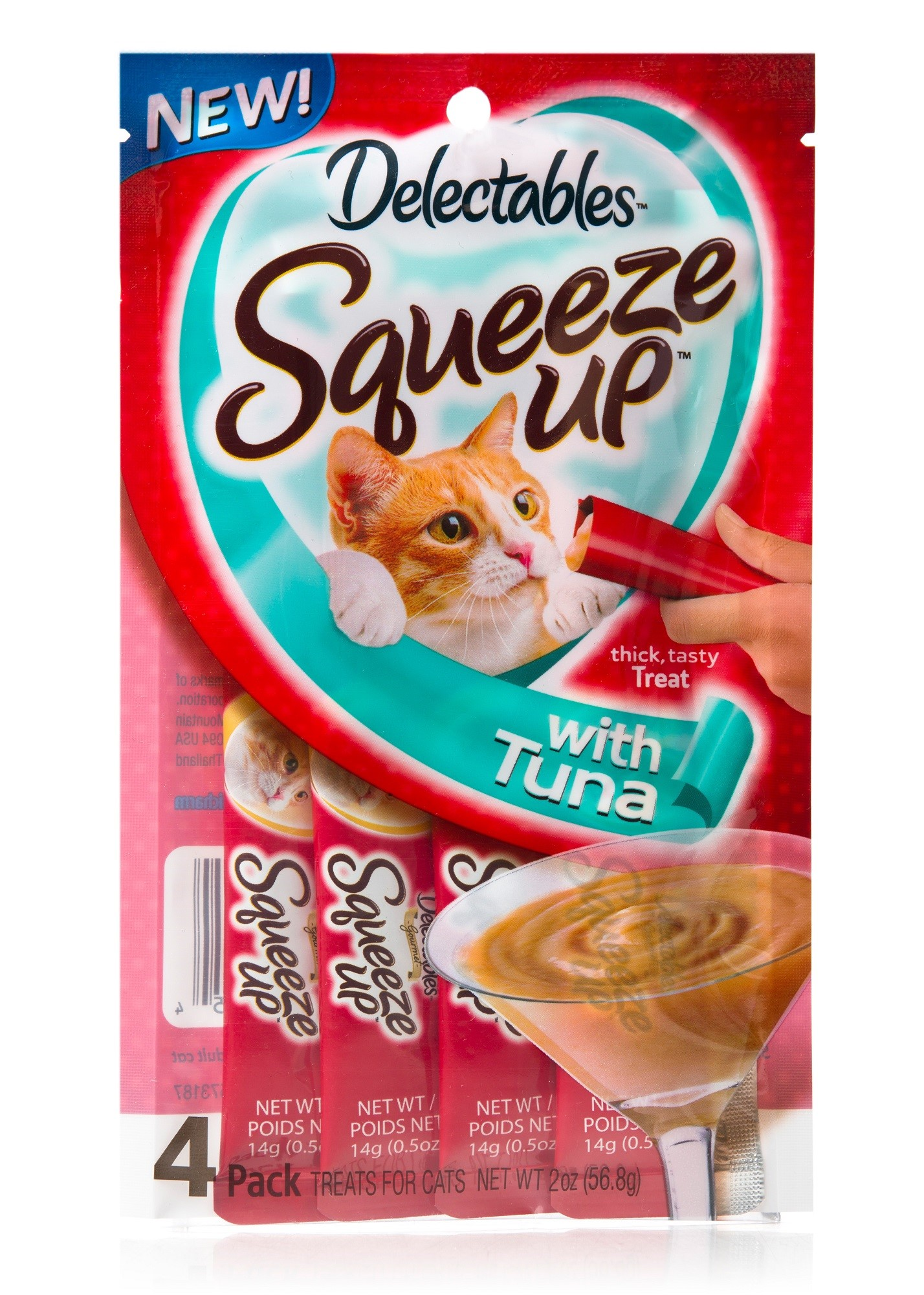 Delectables Squeeze Up Cat Treats Tuna, 4 Count by The Hartz Mountain Corporation