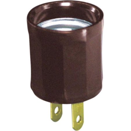 (Leviton Outlet Adapter Socket Plug-In 15 A 125 V Medium Brown)