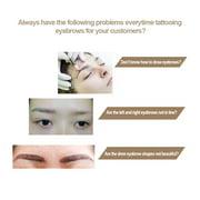 LYUMO Eyebrow Makeup Waterproof Definition Brow Stencil Stamp Tattoo Cosmetic Tool Set,Brow Stamp, Eyebrow Stamp
