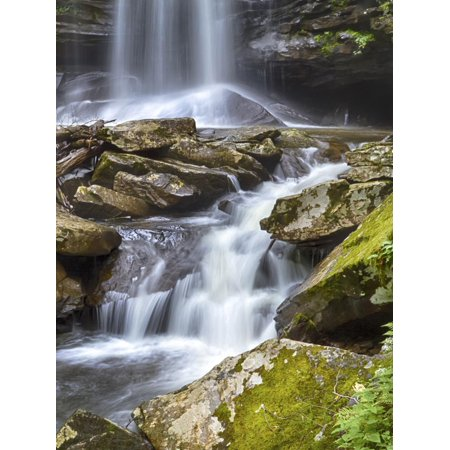USA, West Virginia. Waterfall of the Falls of Hills Creek. Print Wall Art By Christopher