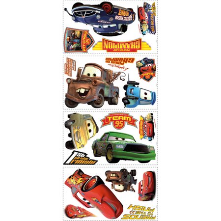 RoomMates Disney Pixar Cars Piston Cup Champs Peel & Stick Wall Decal - Disney Car Decals