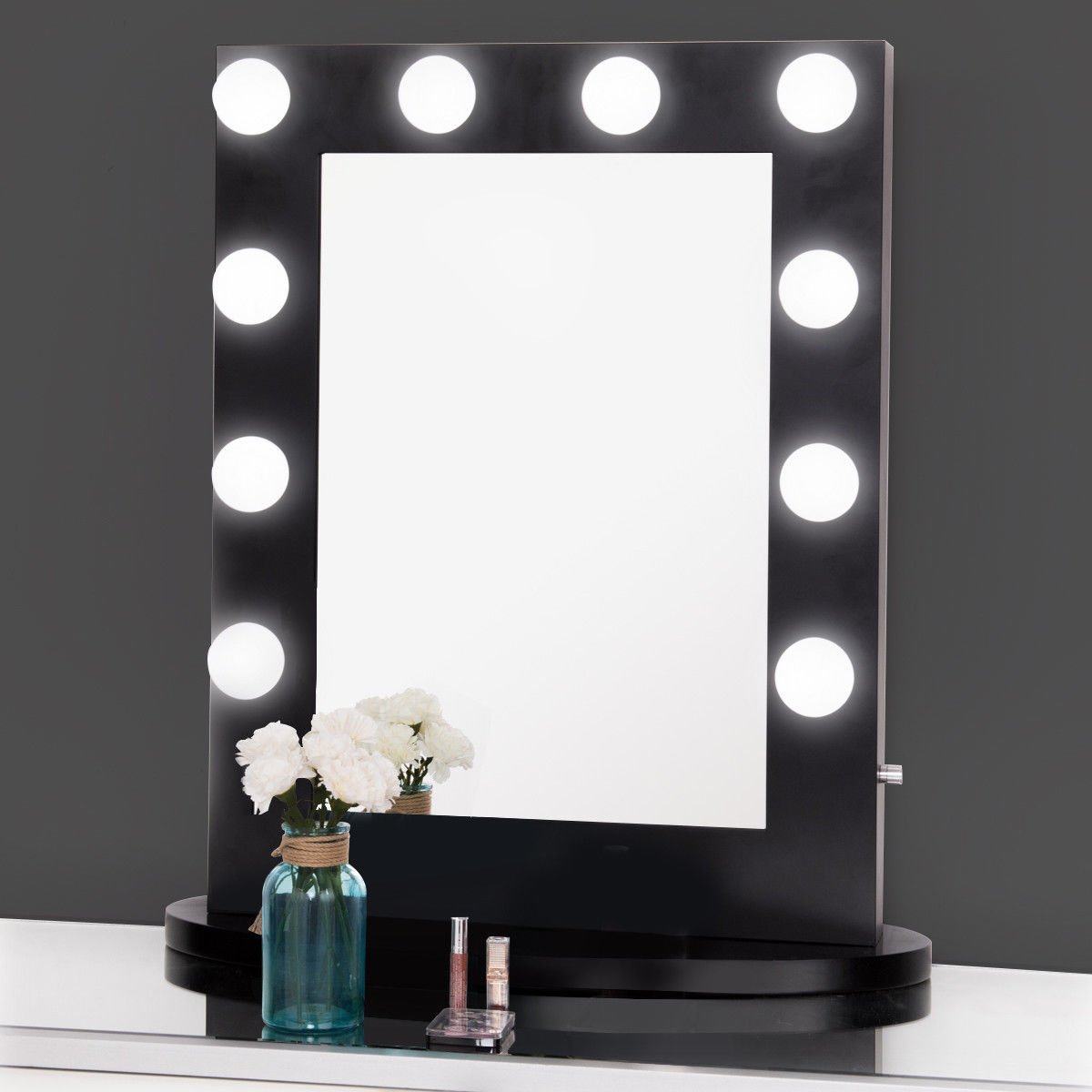 Gymax Hollywood Makeup Vanity Mirror Lighted Tabletops Dimmer Led Illuminated