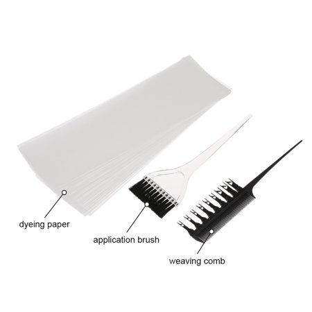 Hair Color Dye Kit Professional Hair Coloring Dyeing Highlighting Tool Hair Color Comb Applicator Tint Brush Plastic Hair Dye Paper
