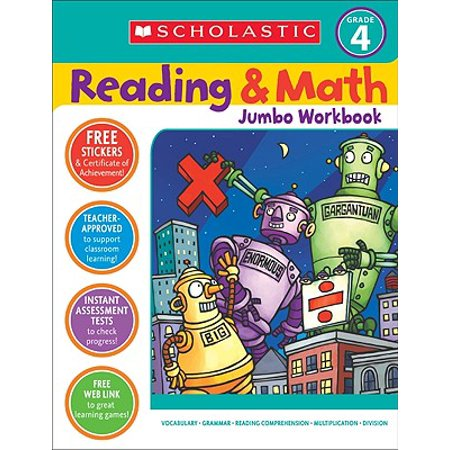 Reading & Math Jumbo Workbook: Grade 4](Halloween Math Ideas First Grade)
