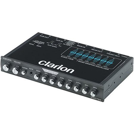 Clarion Eqs755 Car Equalizer - 6 Channel - Graphic - Fader - 7 Band - Half Din - 50 Hz To 16 Khz