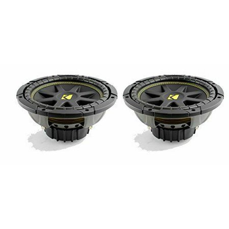 "Pair of Kicker Comp 10C104 10"" 600 Watt 4 Ohm Car SUB Subwoofers"