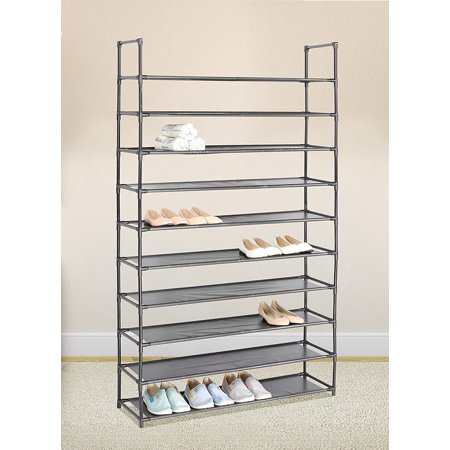 2019 Upgrade Capacity 50 Pair 10 Tier Storage Organizer Space Saving Shoes  Tower Rack Lightweight Shoes Rack With Armrest Stackable Closet -  Walmart.com aa7c03ca95cad