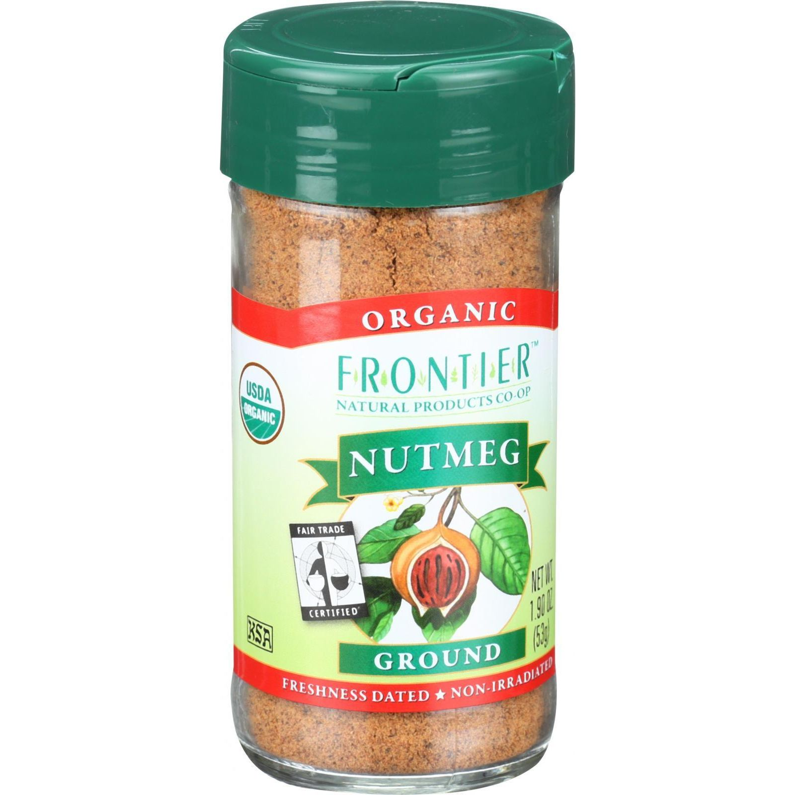 Frontier Herb Nutmeg Organic Fair Trade Certified Ground 1.9 oz by