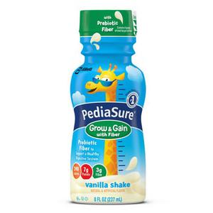 PediaSure Ready-to-Drink Vanilla with Fiber  237mL Bottle, Gluten-free, Milk-based, 1 Bottle
