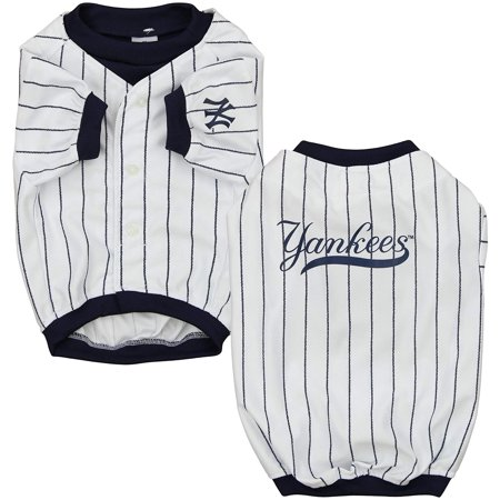online store b8133 3207d Sporty K9 MLB New York Yankees Baseball Dog Jersey, White/Navy
